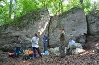 Badania archeologiczne przy Jaskini Kroczyckiej - 07.2015